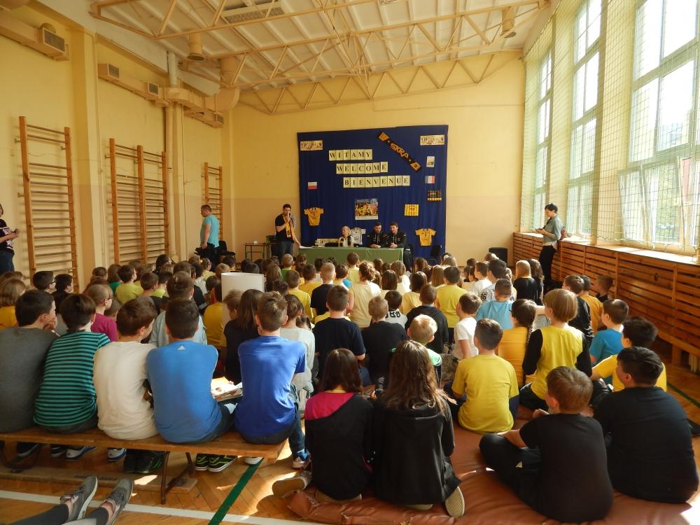 Wrona i Marechal w SP 9 Bełchatów (13.04.2016)